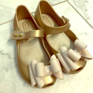 Gold Mini Melissa shoes